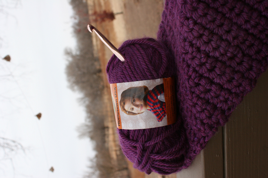 Hometown USA by Lion Brand Yarn. It?s still waiting to be finished ...