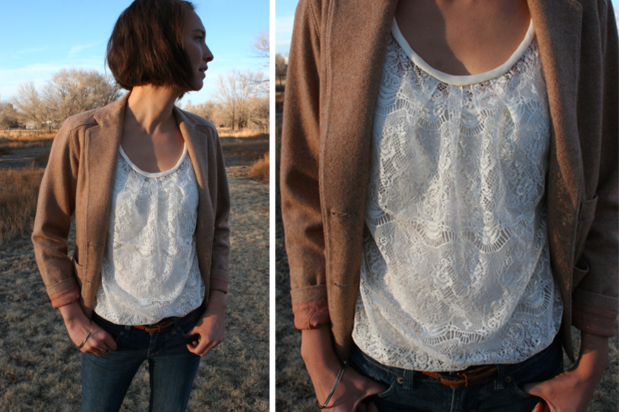 McCalls pattern 6604 lace blouse 1