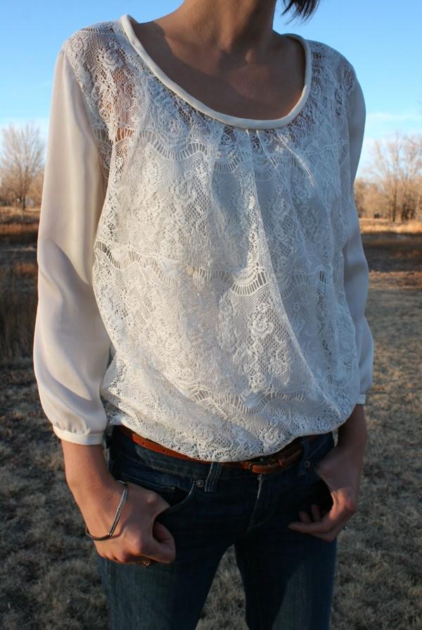 McCalls pattern 6604 lace blouse 2