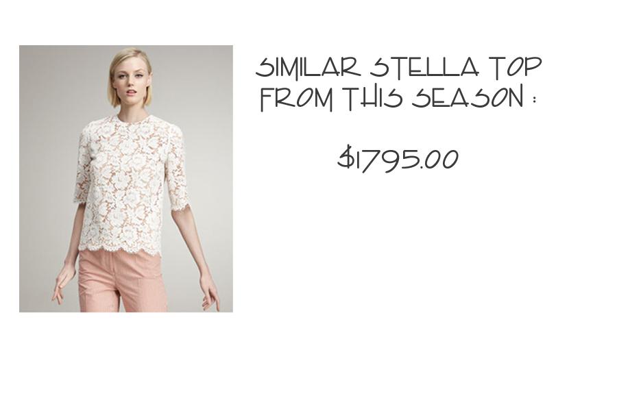 Stella McCartney lace top 2013