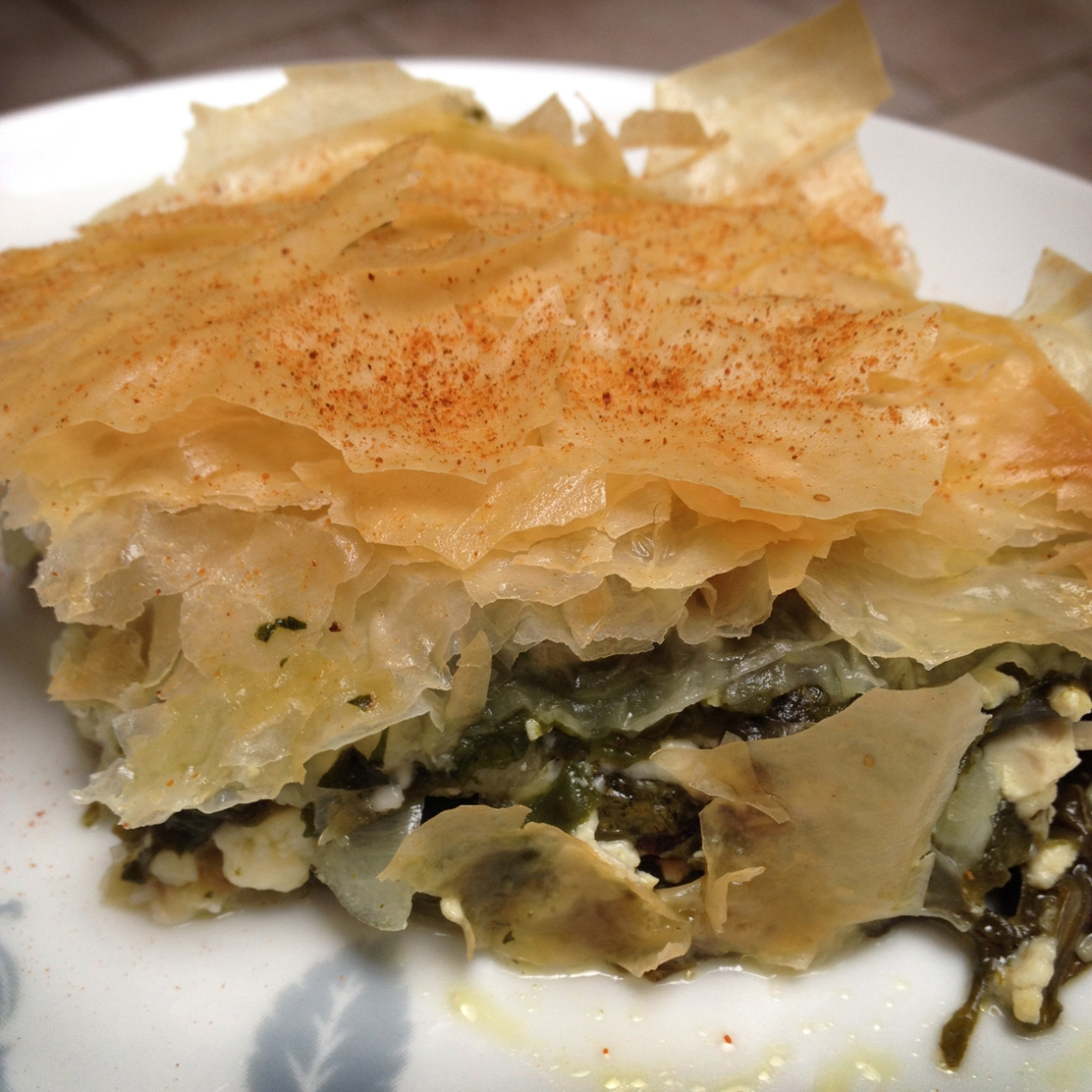 Spinach Tart Plated