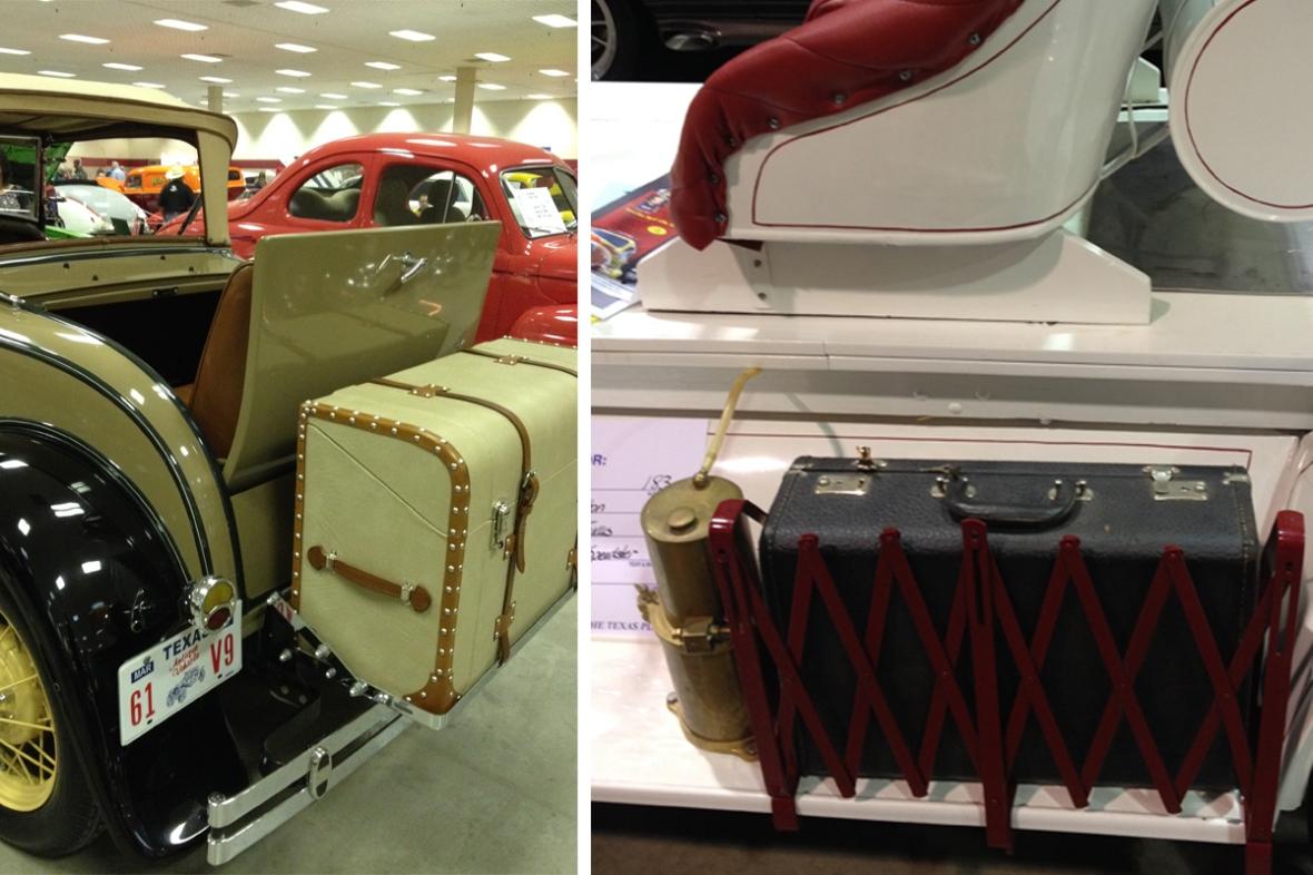 Vintage car luggage racks
