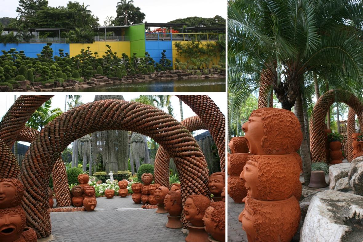Nong Nooch Flower Pot sculpture
