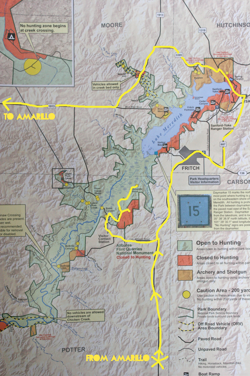 Lake Meredith Map