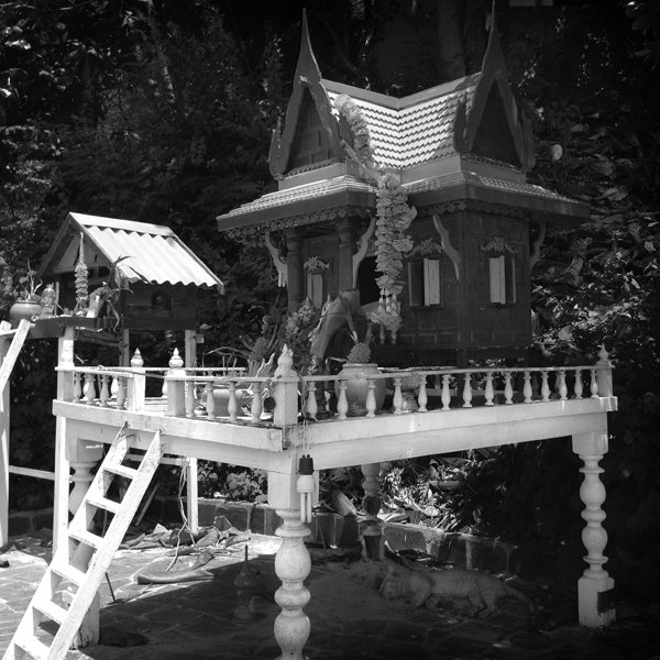 spirit house at the beach pattaya