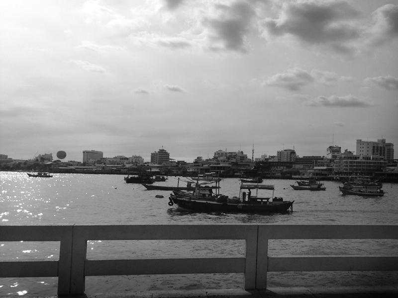 Thai Boat Pattaya BW photograph