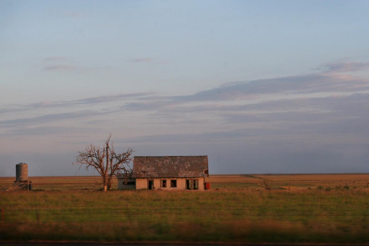 house on the plains
