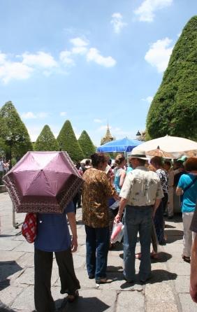 Grand palace umbrellas