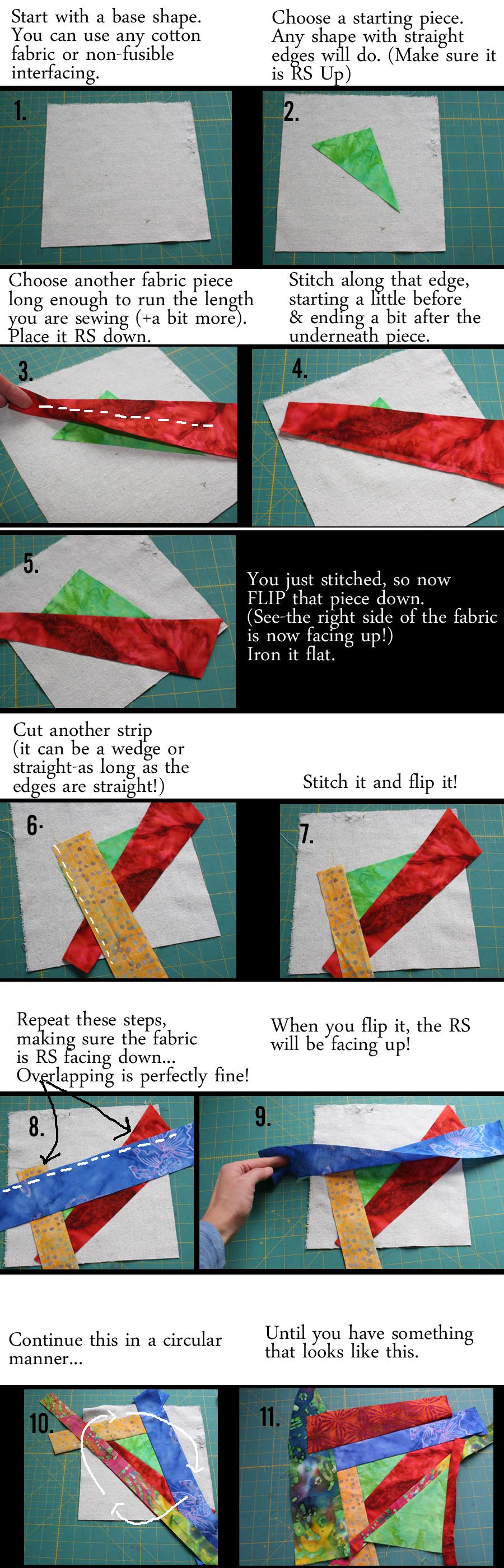 stitch n flip techniques