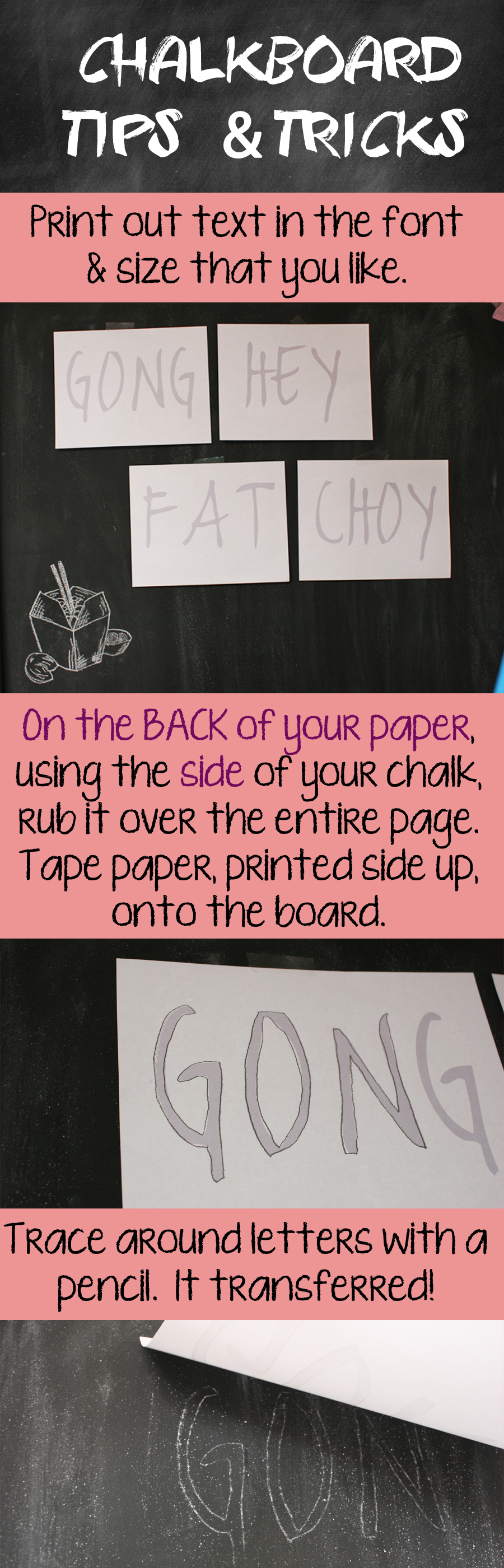 chalkboard tips and tricks