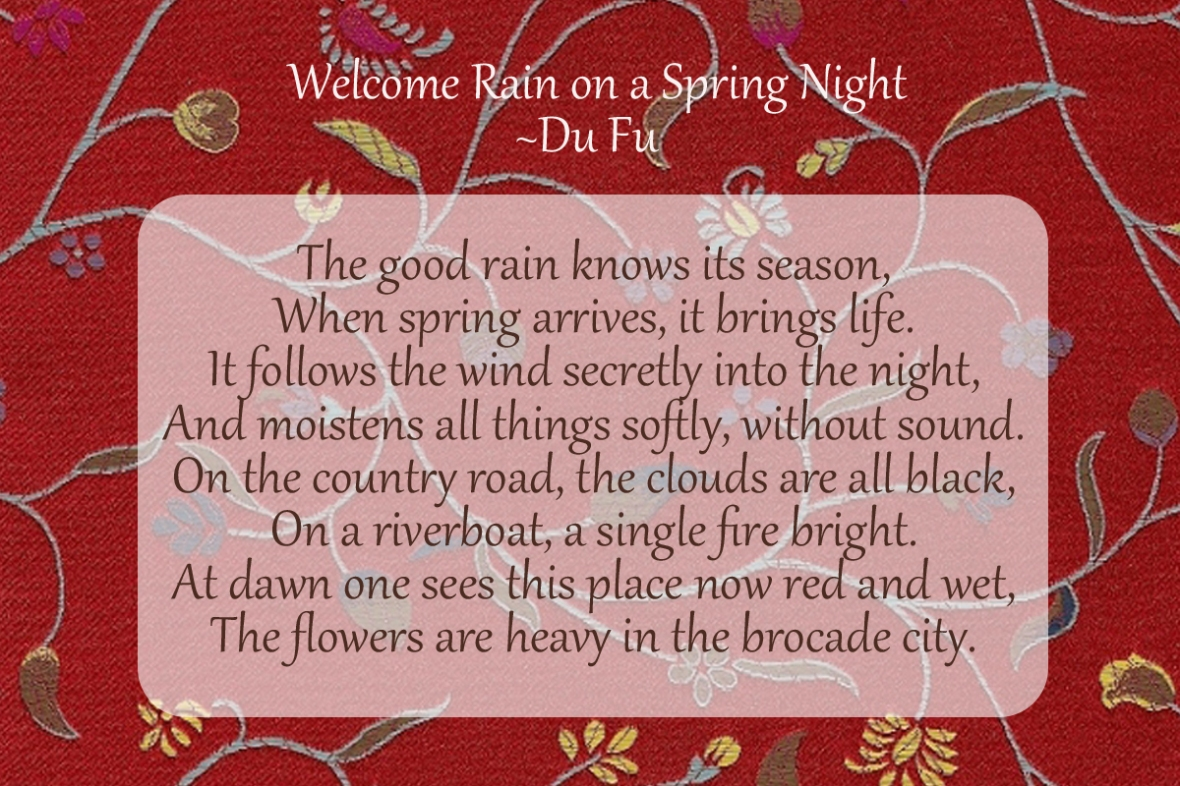 Welcome Spring Rain_DUFu_Chinese poetry
