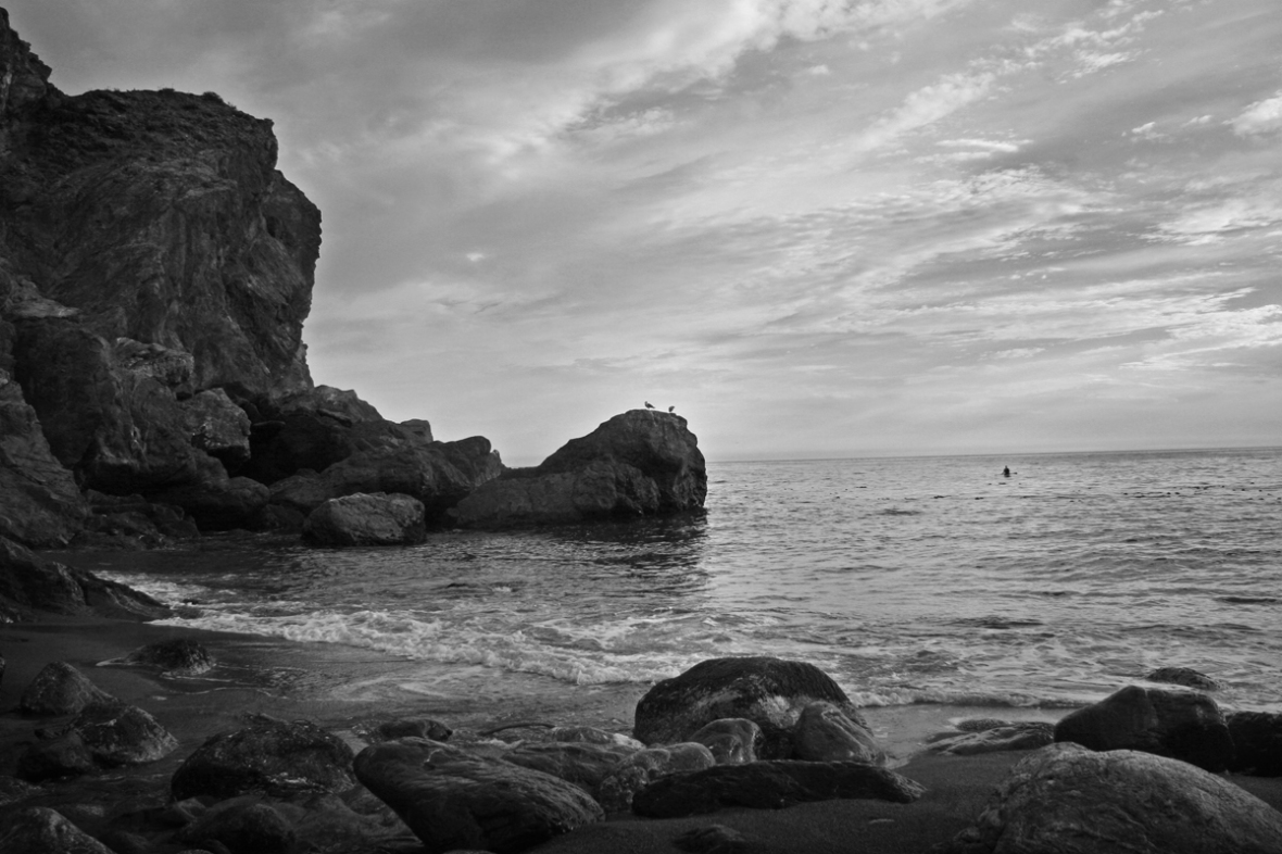 Limekiln_Creek_Campground_BigSur_California_Beach_Sunset_BlackandWhite