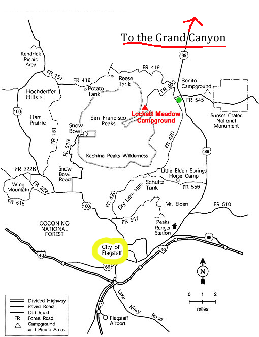lockett meadow Grand Canyon Map