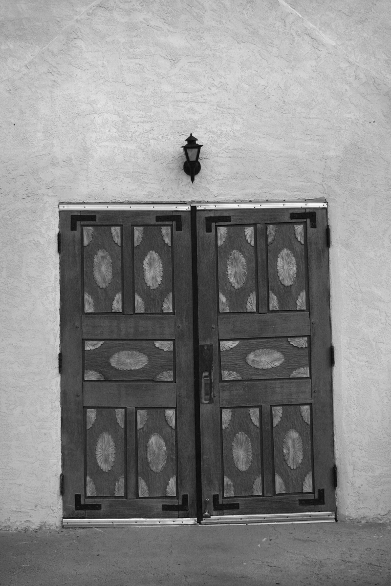San Ysidro Catholic Church Jemez doors bw