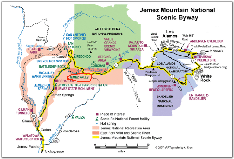 jemez area campground map