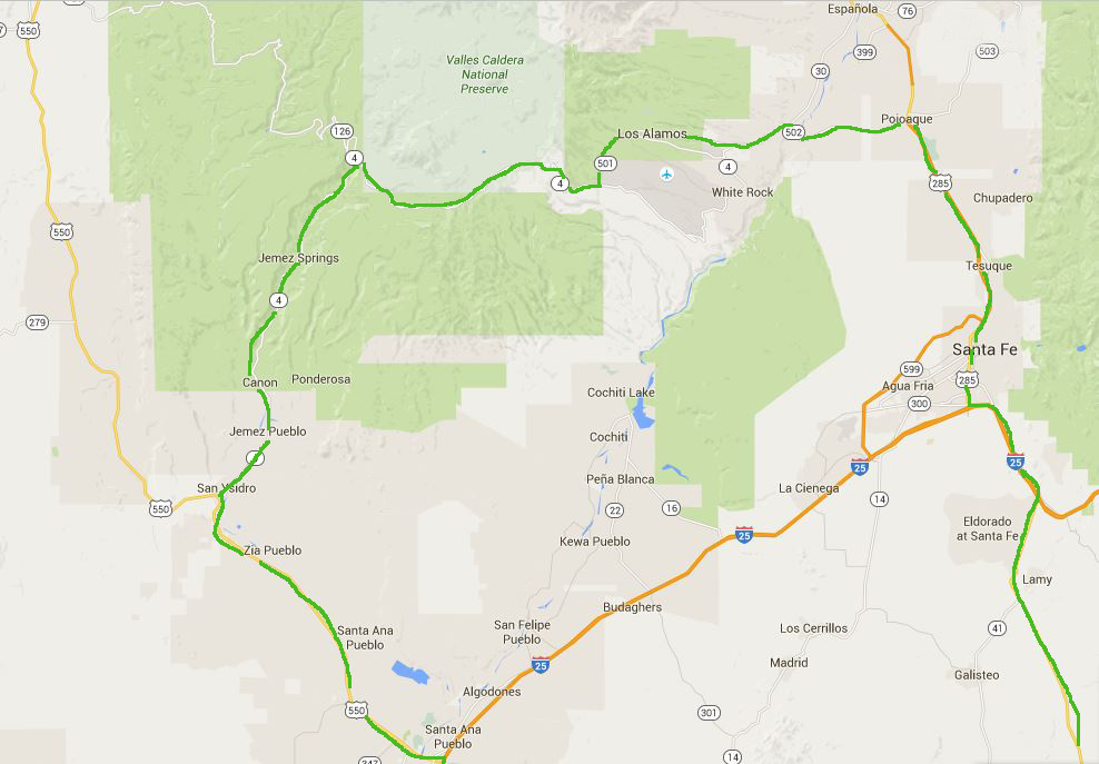 jemez_Santa Fe_ area map