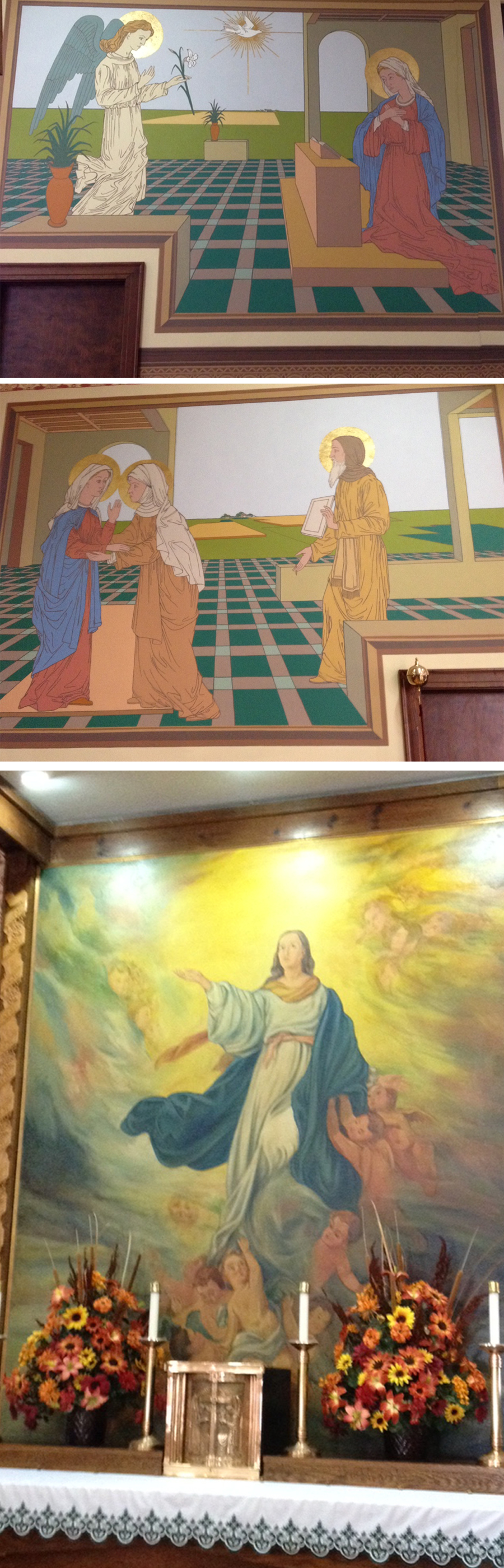 paintings at St Marys Catholic church Umbarger TX