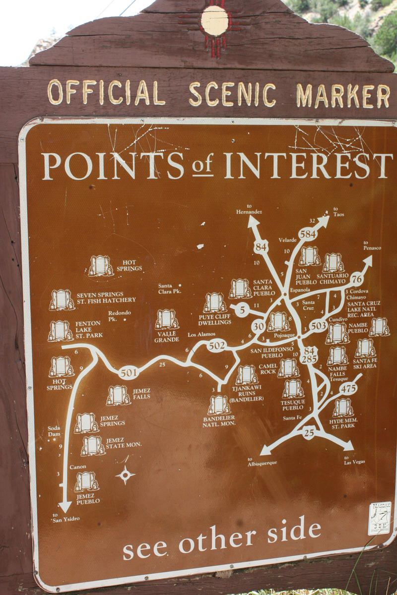 points of interest Jemez Springs New Mexico