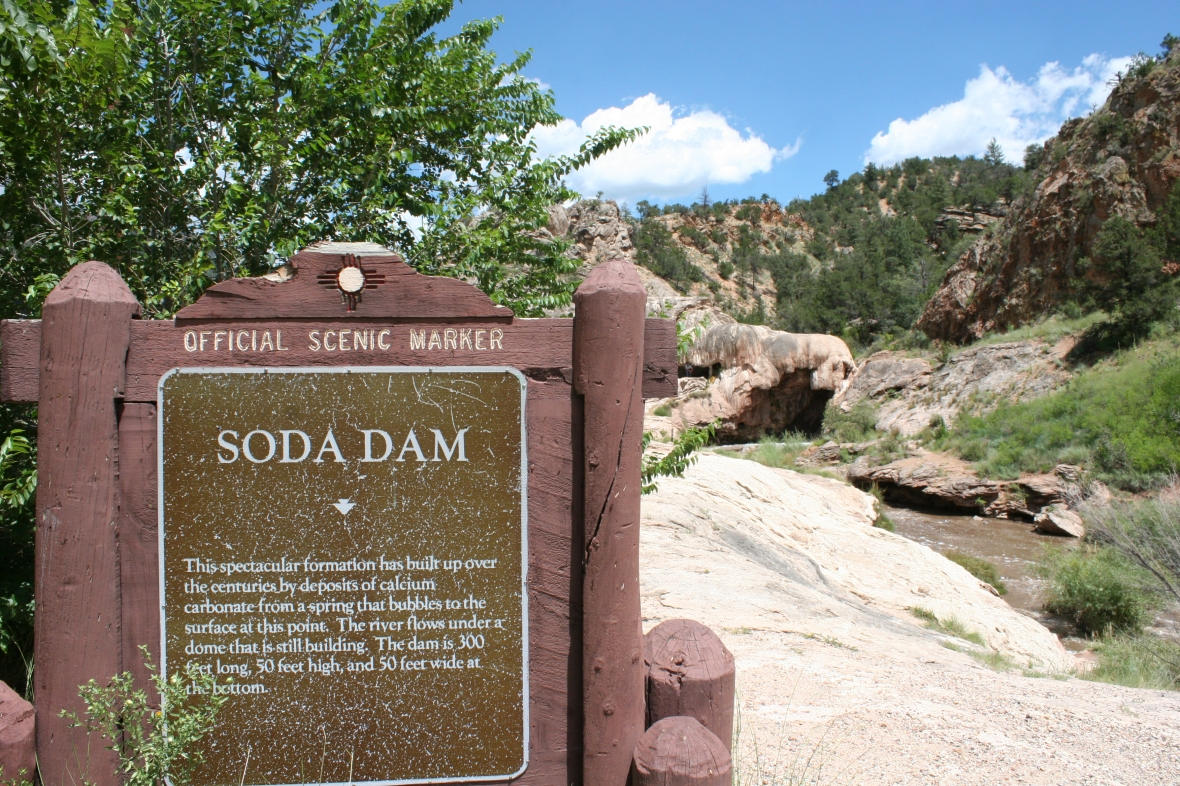 soda dam sign New Mexico