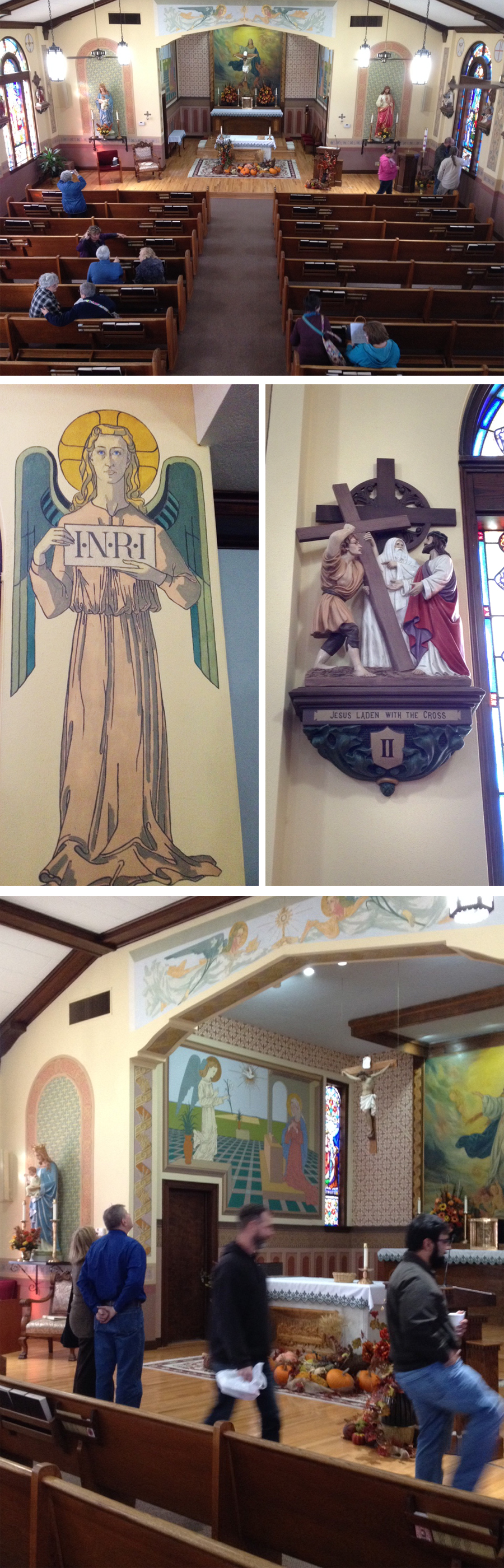 Umbarger Catholic church POW paintings