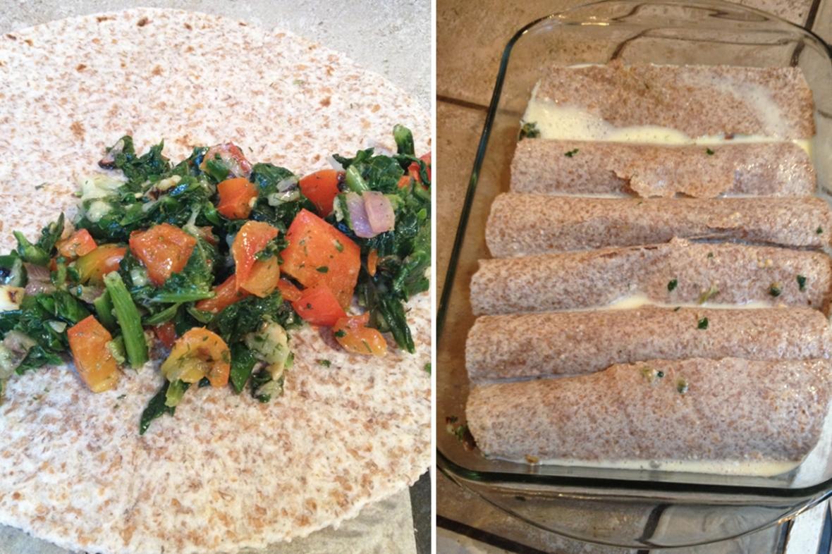 Baked Vegetarian Breakfast Burritos