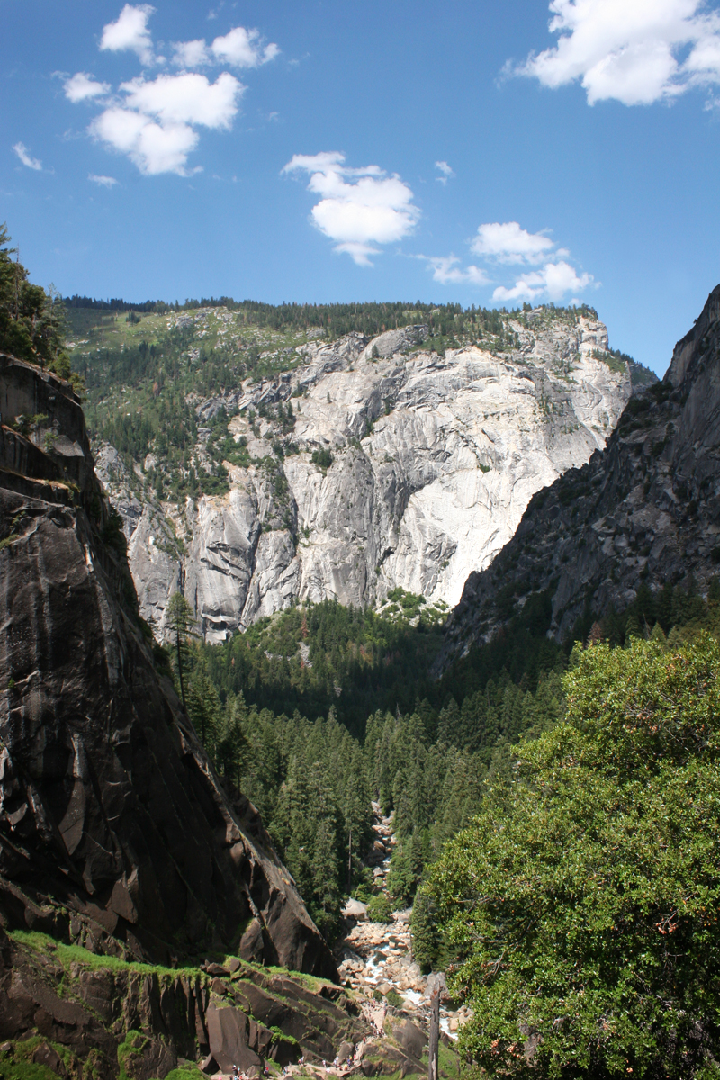 view from the top Yosemite Vernal Falls