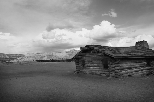 Ghost Ranch Entrance BW