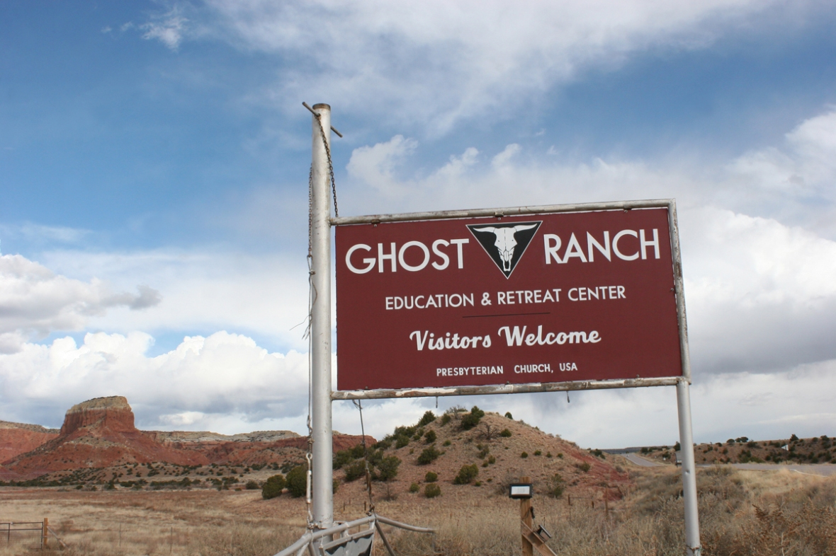 ghost ranch sign
