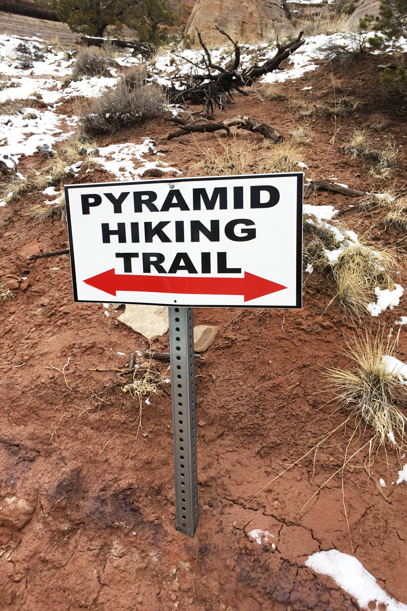 Pyramid Hiking Trail Sign