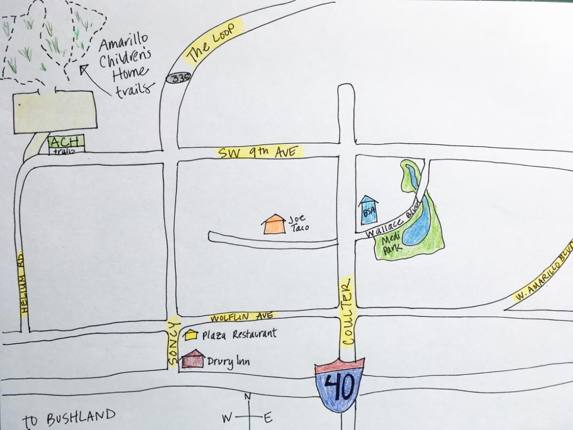 Amarillo Childrens Home trails map
