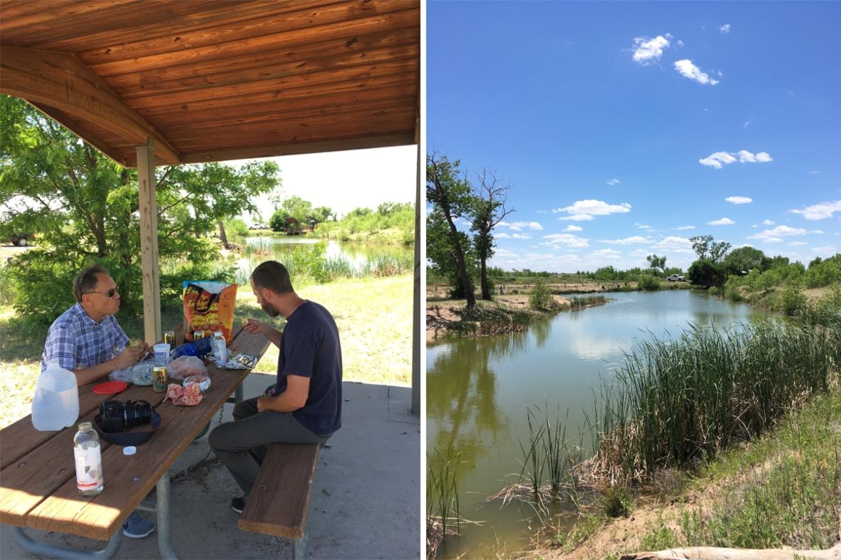 Cottonwood picnic and camping Cimarron National Grasslands Kansas