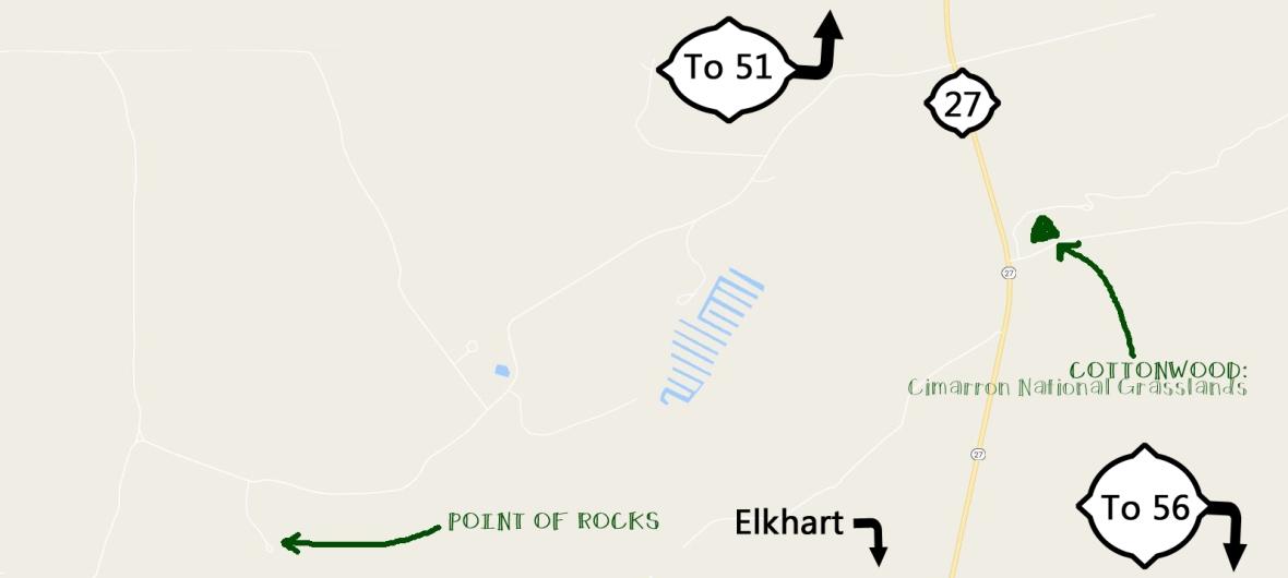 point of rocks Cimarron Grasslands map