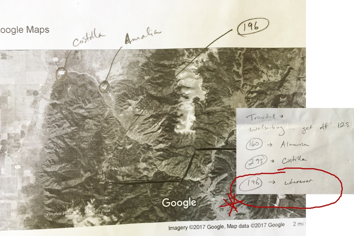 google map of carson national forest