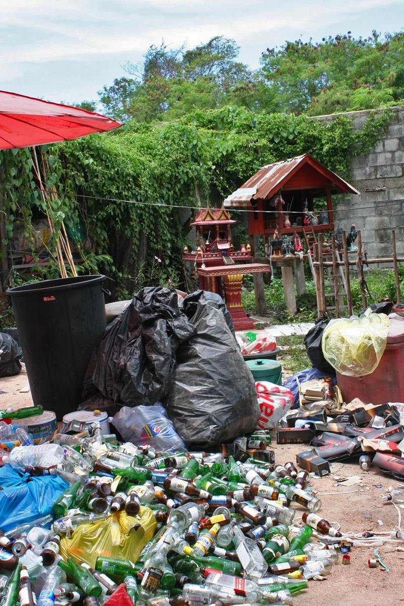 Thailand Slums garbage