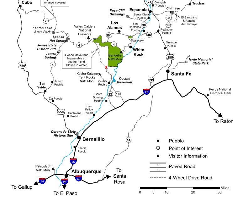 Bandelier Map