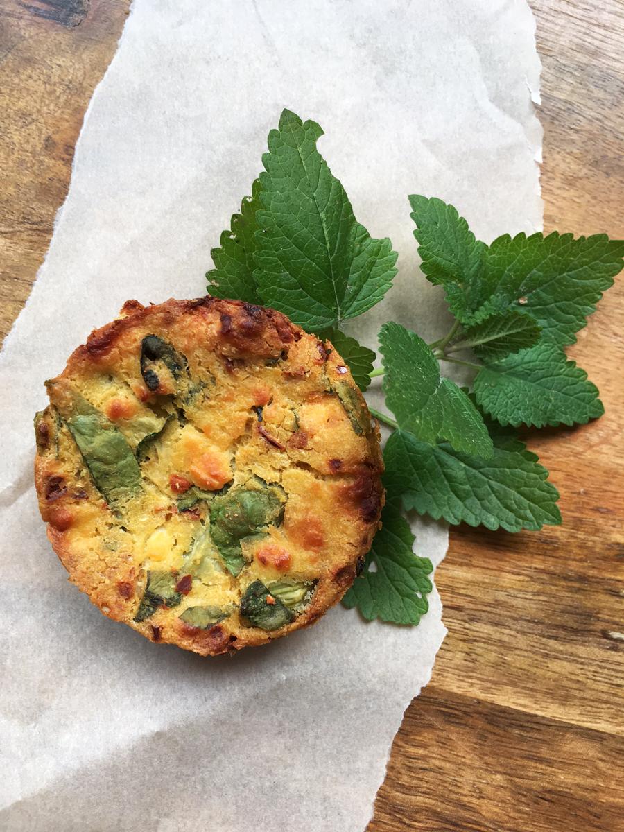 Socca muffins recipe
