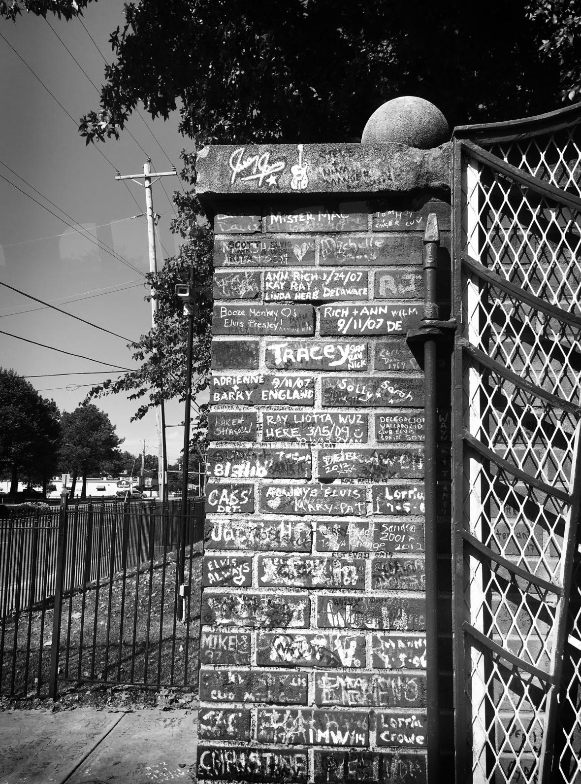 Graceland Gates with Graffiti