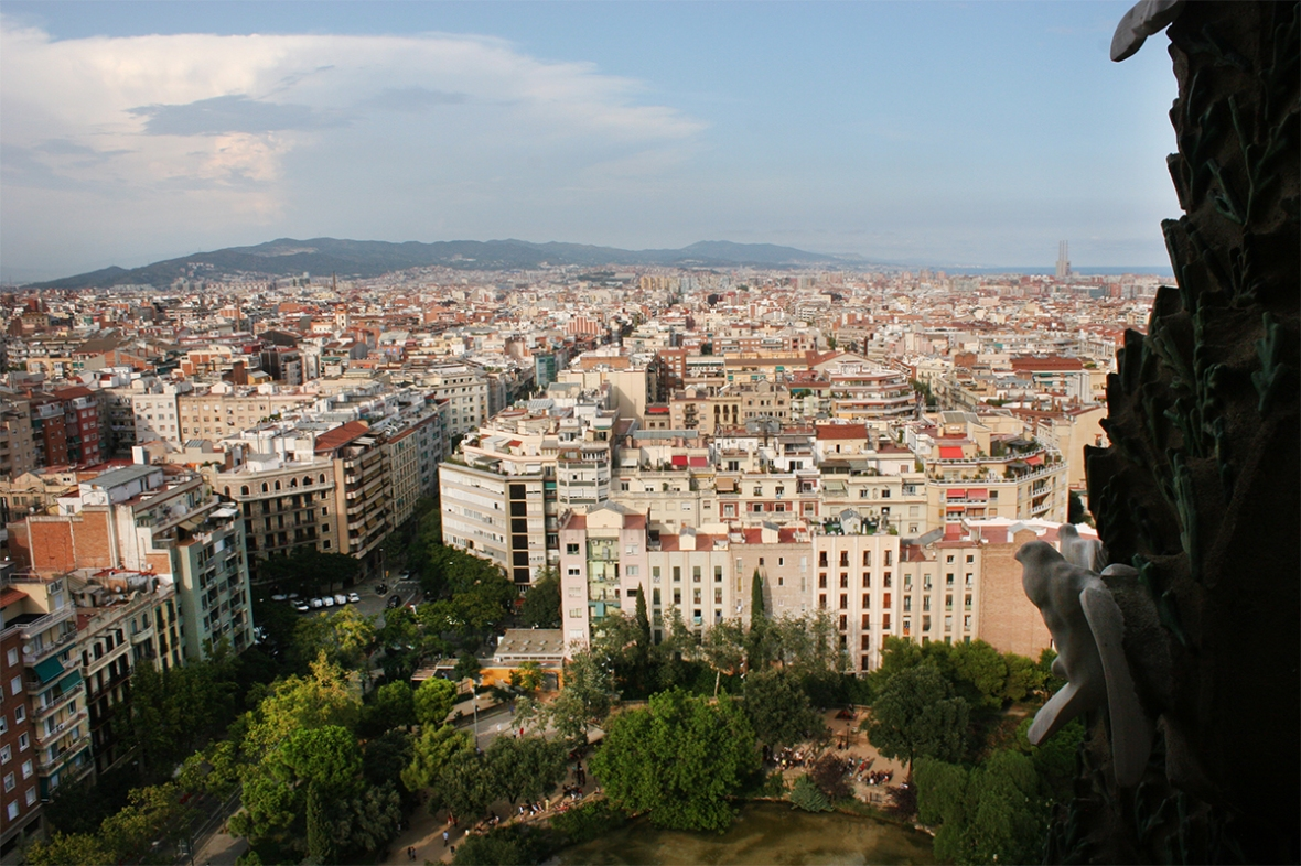 Barcelona from tower 2
